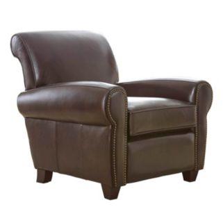 Nailhead Leather Arm Chair