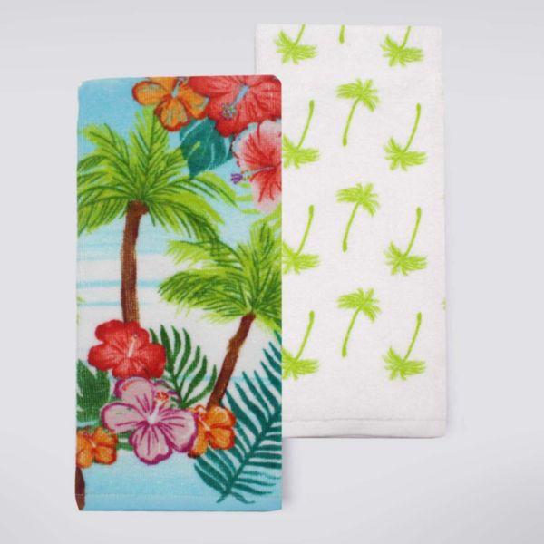 Celebrate Summer Together Palm Tree Kitchen Towel 2 Pk