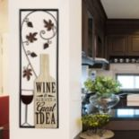 "Stratton Home Decor ""Wine Is Always A Great Idea"" Wall Decor"