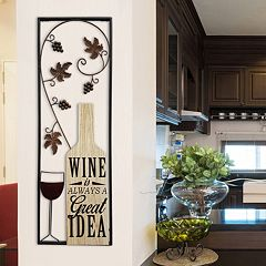 Stratton Home Decor 'Wine Is Always A Great Idea' Wall Decor