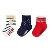 Baby Girl / Toddler Girl OshKosh B'gosh® 3-pk. Print Crew Socks