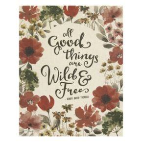 """Stratton Home Decor """"All Good Things Are Wild & Free"""" Wall Art"""