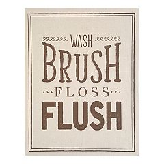 Stratton Home Decor 'Wash Brush Floss Flush' Linen Wall Art