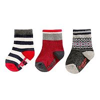 Baby Boy / Toddler Boy OshKosh B'gosh® 3-pk. Print Crew Socks