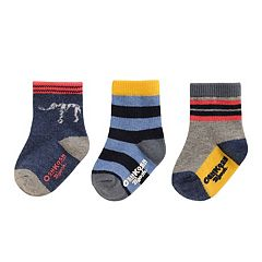 Baby Boy / Toddler Boy OshKosh B'gosh® 3 pkPrint Crew Socks