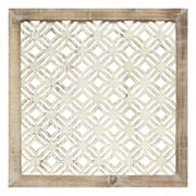Stratton Home Decor Distressed White Geometric Wall Decor
