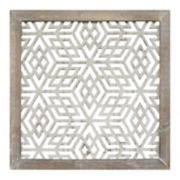 Stratton Home Decor Distressed Gray Geometric Wall Decor