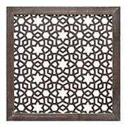 Stratton Home Decor Distressed Brown Geometric Wall Decor
