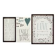 Stratton Home Decor Love Sentiments Wall Art 5 pc Set