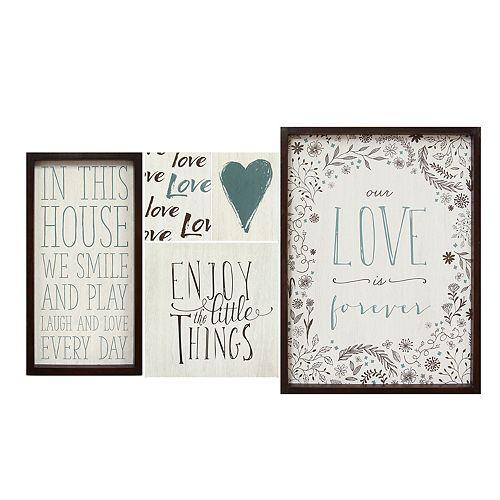 Stratton Home Decor Love Sentiments Wall Art 5-piece Set