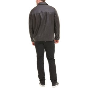 Big & Tall Dockers Open-Bottom Faux-Leather Car Coat