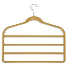 Honey-Can-Do 10-pack Velvet Touch Pant Hanger
