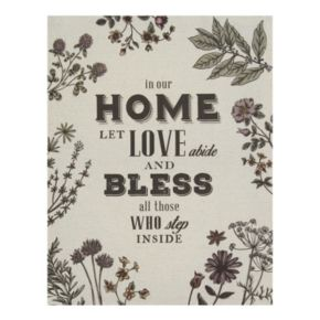 """Stratton Home Decor """"In Our Home"""" Linen Wall Art"""