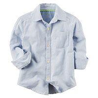 Toddler Boy Carter's Striped Oxford Button-Front Shirt