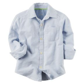 Toddler Boy Carter's Striped Oxford Button-Front Shirt