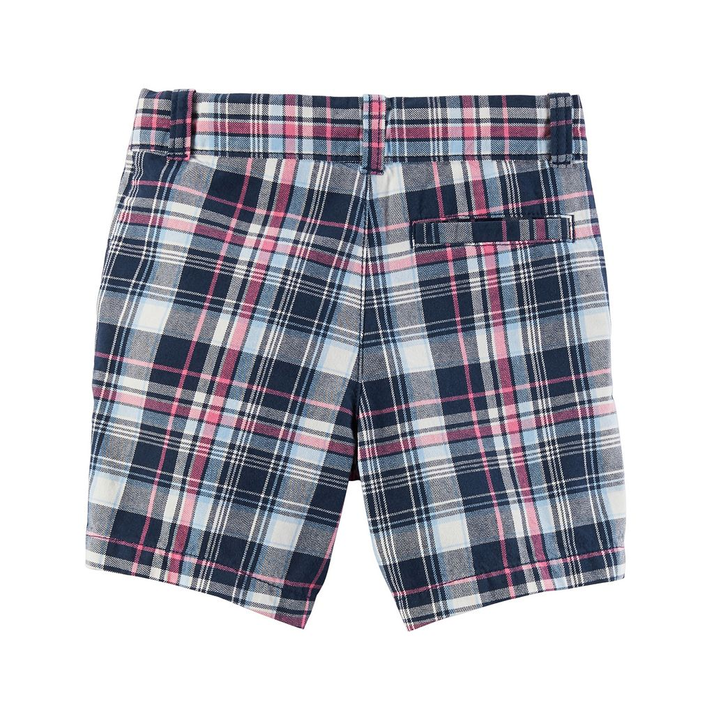 Toddler Boy Carter's Flat Front Plaid Shorts