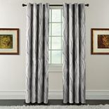 Arlee Blackout 1-Panel Celestina Wave Jacquard Window Curtain