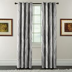 Arlee Celestina Wave Jacquard Blackout Window Curtain
