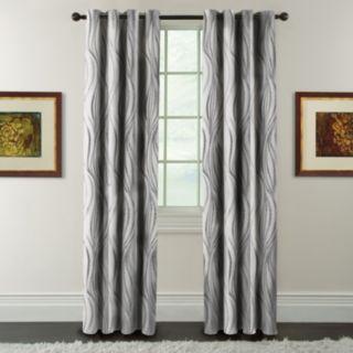Arlee Blackout 1-Panel Celestina Wave Jacquard Window Curtain