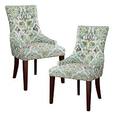 Madison Park Victor Wing Dining Chair 2-piece Set