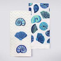 Celebrate Summer Together Seashells Kitchen Towel 2-pk.