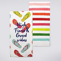 Celebrate Summer Together Good Vibes Kitchen Towel 2-pk.