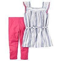 Girls 4-6x Carter's Striped Tunic & Leggings Set