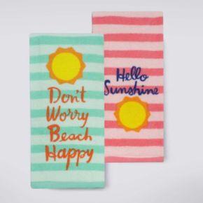 Celebrate Summer Together Summertime Kitchen Towel 2-pk.