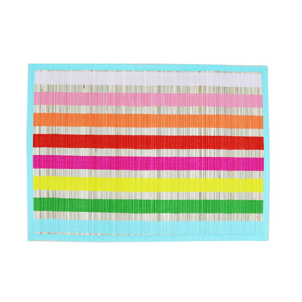 Celebrate Summer Together Woven Stripes Placemat