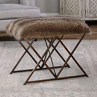 Brannen Faux-Fur Small Bench