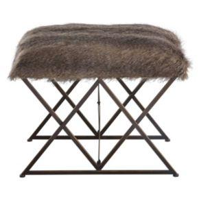 Brannen Faux-Fur Small Bench
