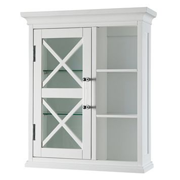 Elegant Home Fashions Wyatt One Door Storage Cubby Wall Cabinet