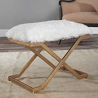 Farran Faux-Fur Small Bench