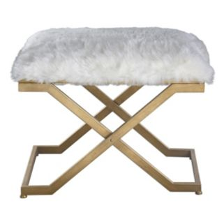 Farran Faux-Fur Small Bench