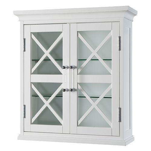 Elegant Home Fashions Wyatt Two Door Storage Cubby Wall Cabinet
