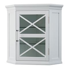 Elegant Home Fashions Wyatt Corner Wall Storage Cabinet