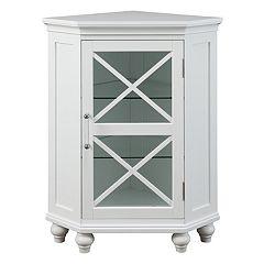 Elegant Home Fashions Wyatt Corner Floor Storage Cabinet