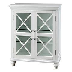 Elegant Home Fashions Wyatt Two Door Floor Storage Cabinet