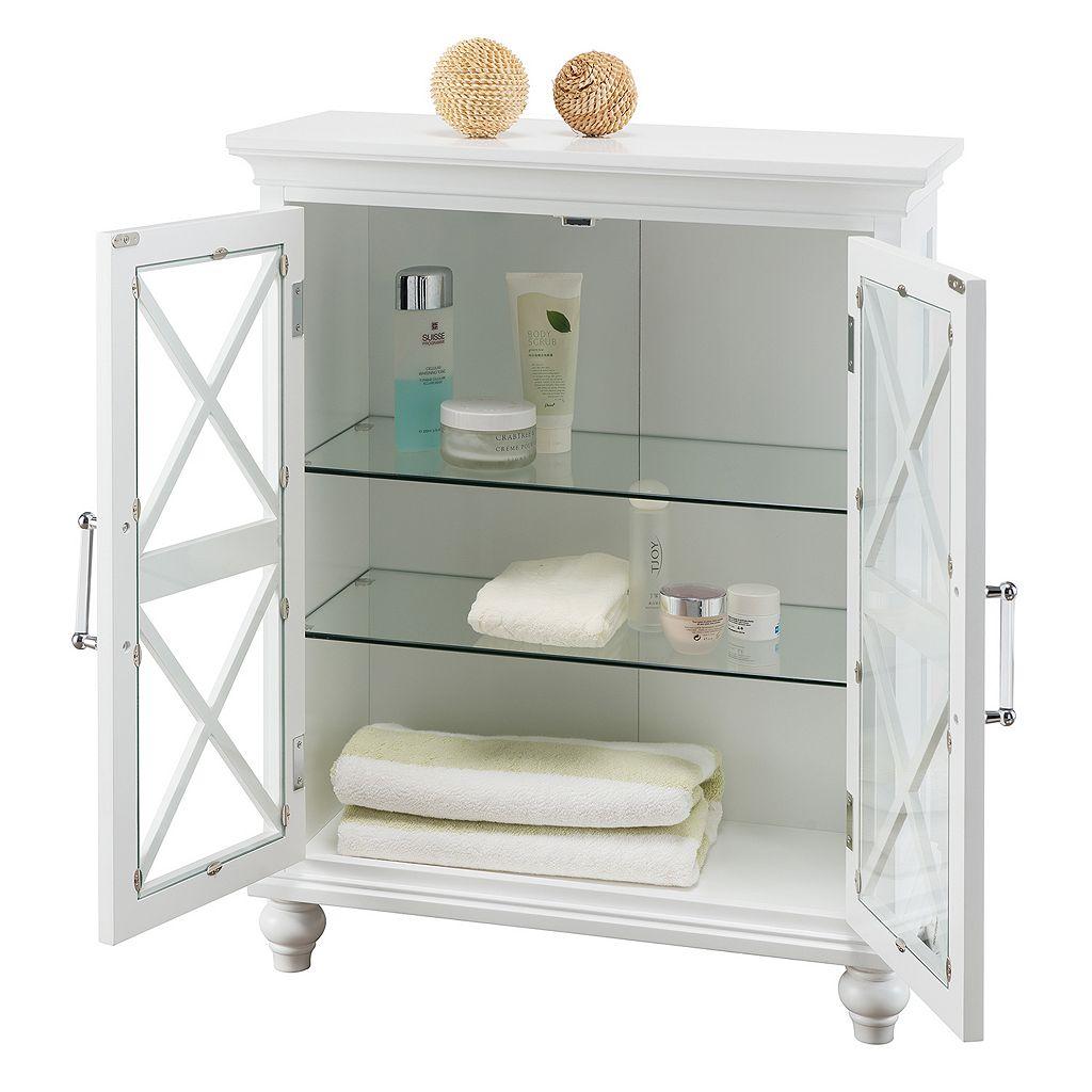 Elegant Home Fashions Wyatt Two Door Floor Storage Cabinet