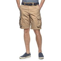 Big & Tall SONOMA Goods for Life™ Classic-Fit Twill Belted Cargo Shorts