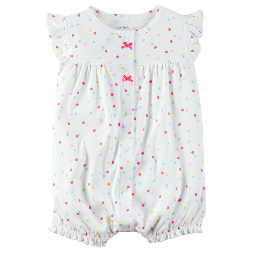 Baby Girl Carter's Rainbow Sprinkle Romper