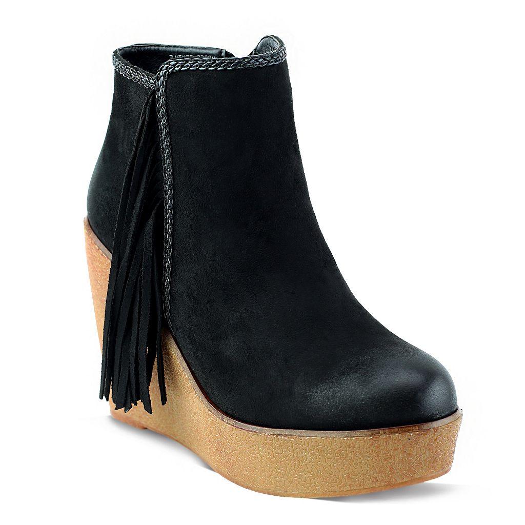 Olivia Miller Burke Women's Wedge Ankle Boots