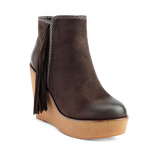 Olivia Miller Burke Women's Wedge Ankle Boots