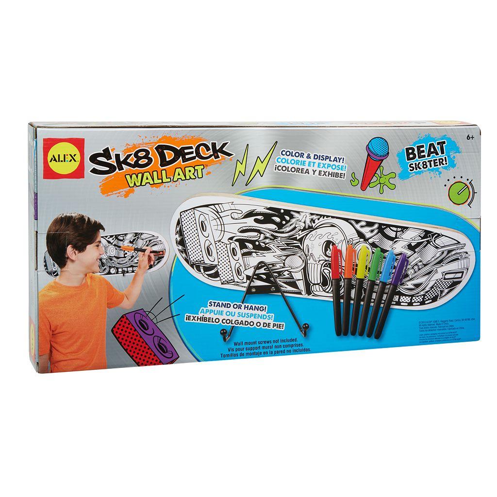 ALEX Toys Craft Sk8 Deck Wall Art Beat Sk8ter