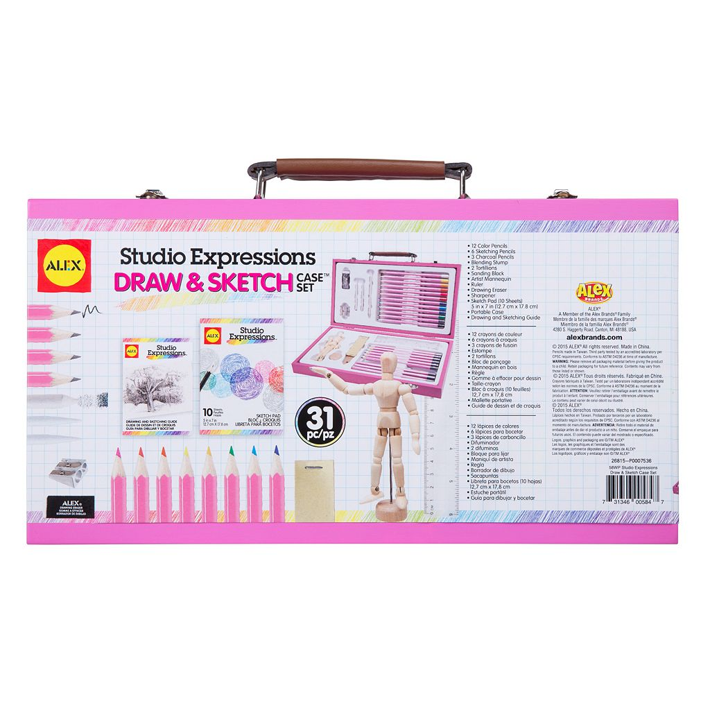 ALEX Art Studio Expressions Draw & Sketch Case Set