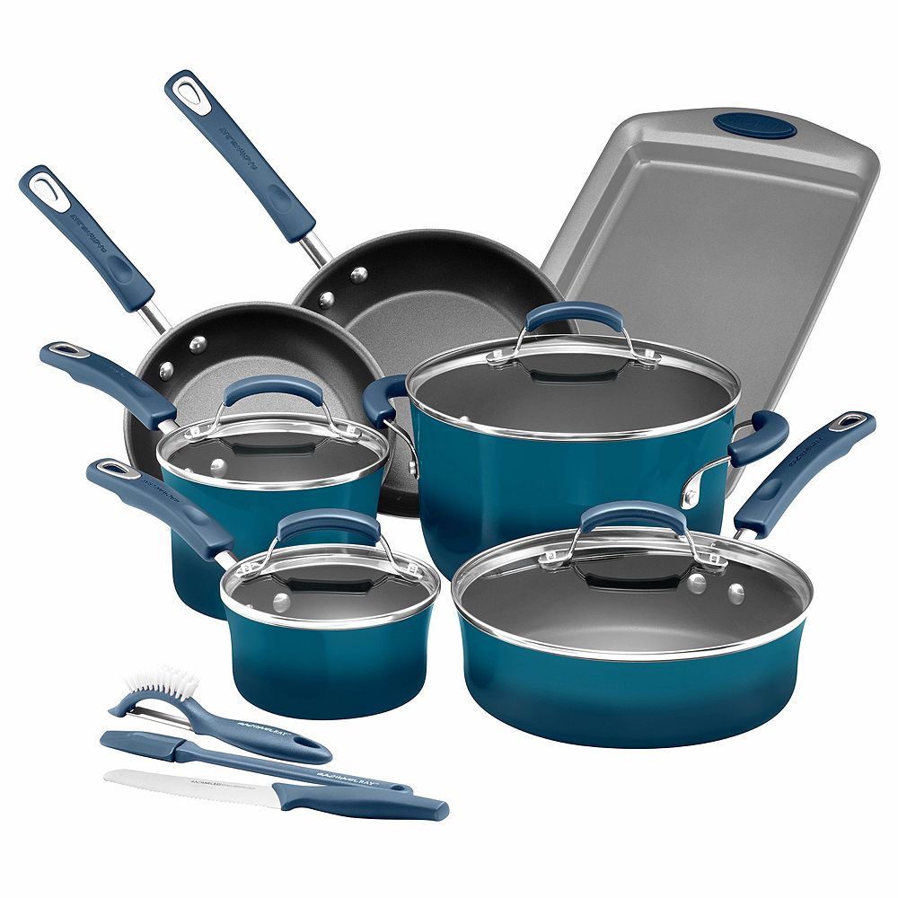Ray Brights 14-pc. Nonstick Cookware Set