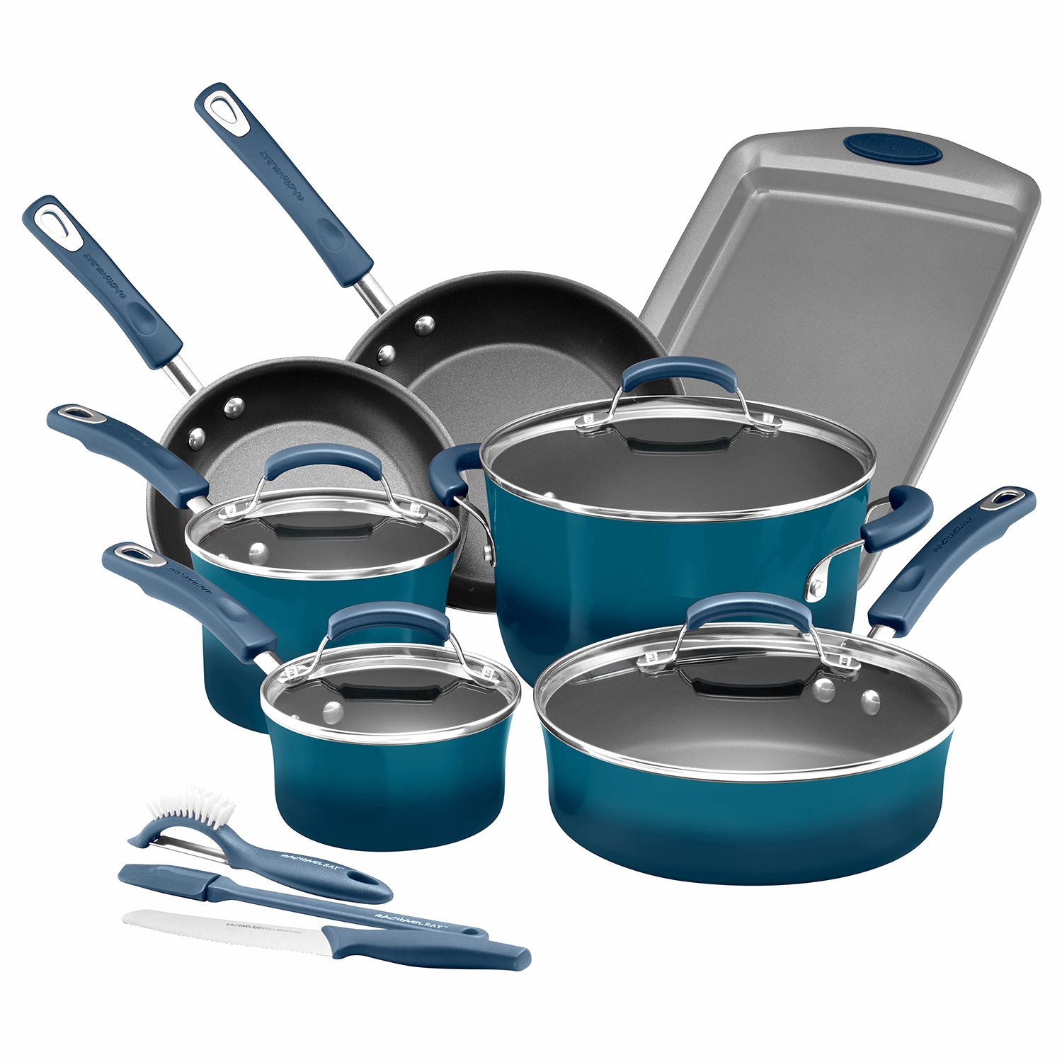 Rachael Ray Brights 14 Pc. Nonstick Cookware Set