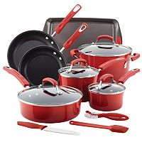Rachael Ray 14-Piece Nonstick Cookware Set (Multi Colors) + $10 Kohls Cash