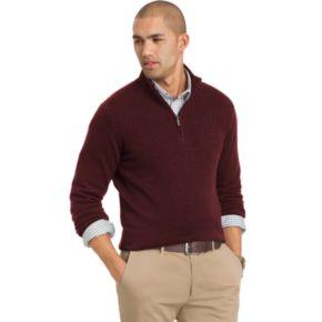 Big & Tall Van Heusen Classic-Fit Fine Gauge Heathered Quarter-Zip Sweater