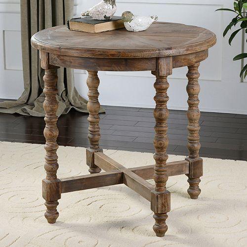 Kohl S Foyer Table : Samuelle round end table